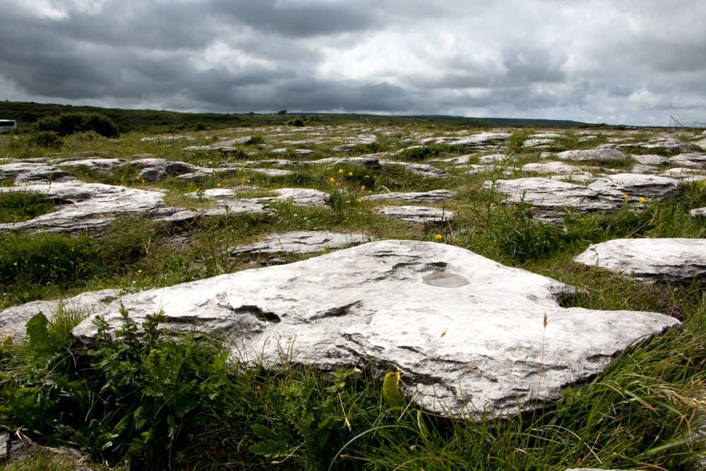 The landscape in the Burren is filled with limestone rocks, giving the areaan other worldly aura. Ireland Road Trip