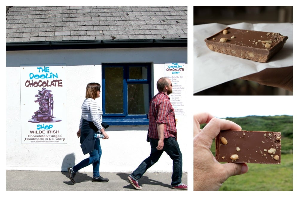 We couldn't resist the chocolate selection at The Doolin Chocolate Chop. Culinary Road Trip through Western Ireland