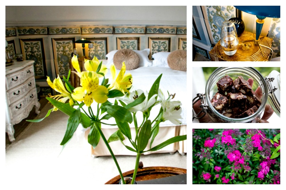 Rooms at The Old Rectory are both stylish and comfortable. The flowers on the bottom right are located in the hotel's opulent back garden. Hastings. 5 Great Hotels in South England