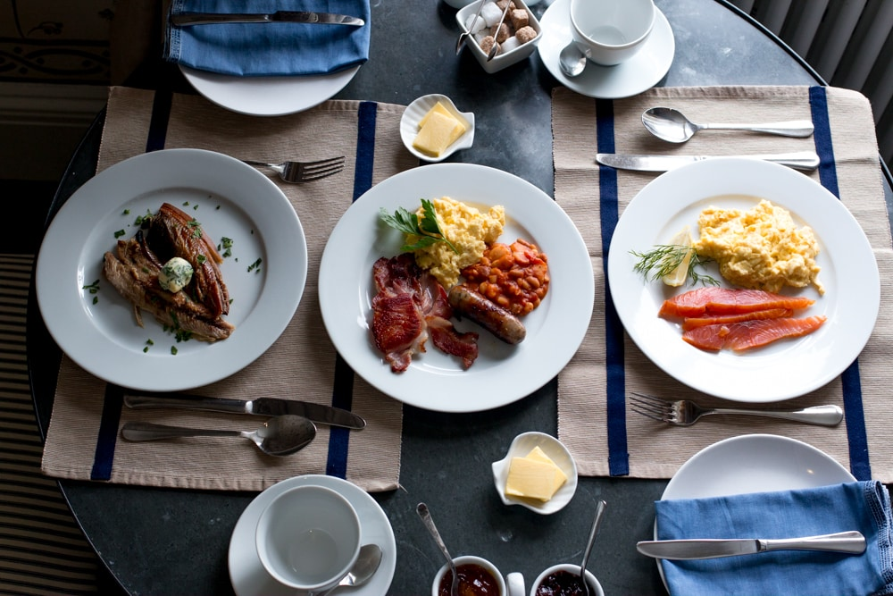 Breakfast at The Old Rectory in Hastings England