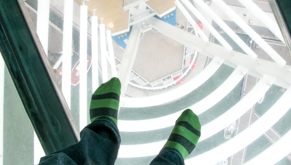 Emirates Spinnaker Tower Glass Sky Walk in Portsmouth England