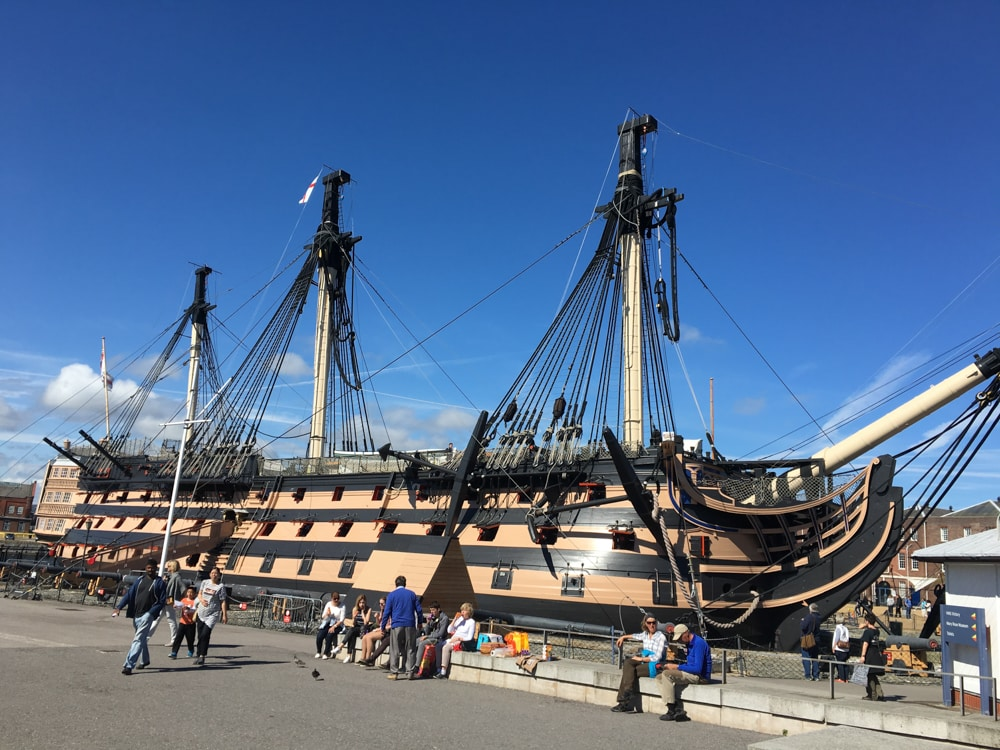 HMS Victory in Portsmouth England