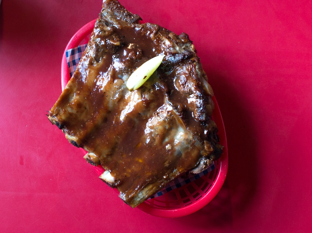 Barbecue Ribs at The Dirty Onion in Belfast Northern Ireland