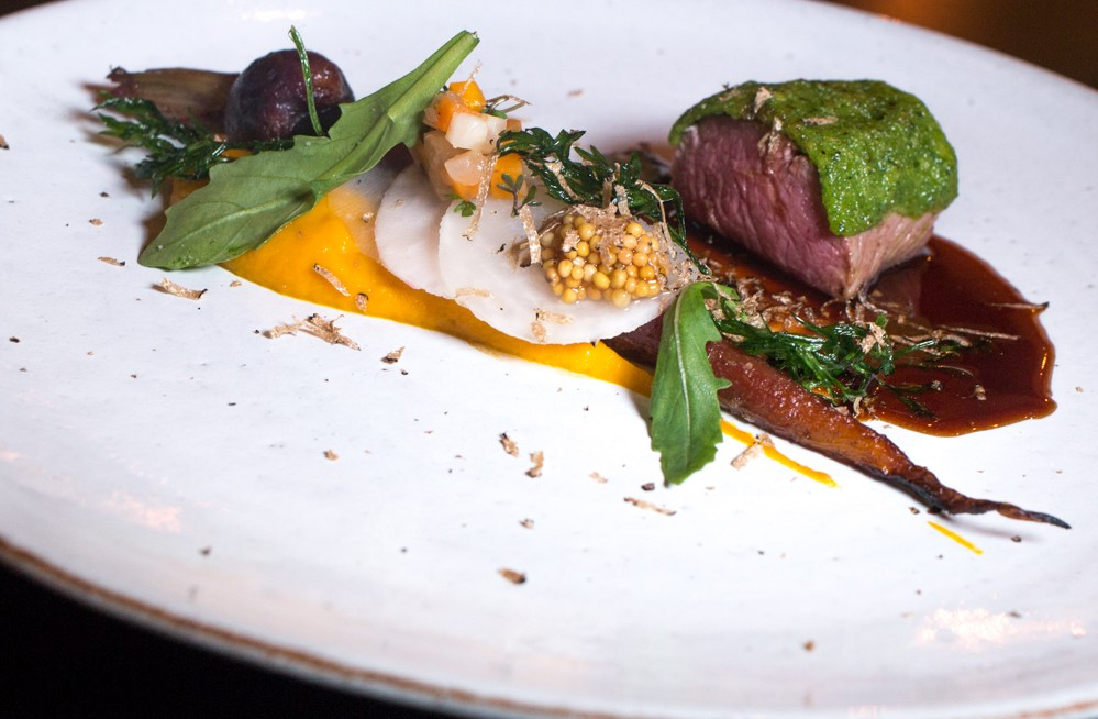 Lamb loin with pickled mustard seeds and root vegetables provided an intriguing fusion between classic French cuisine and Swedish ingredients. Gastronomic Tour of Southern Sweden in Skåne