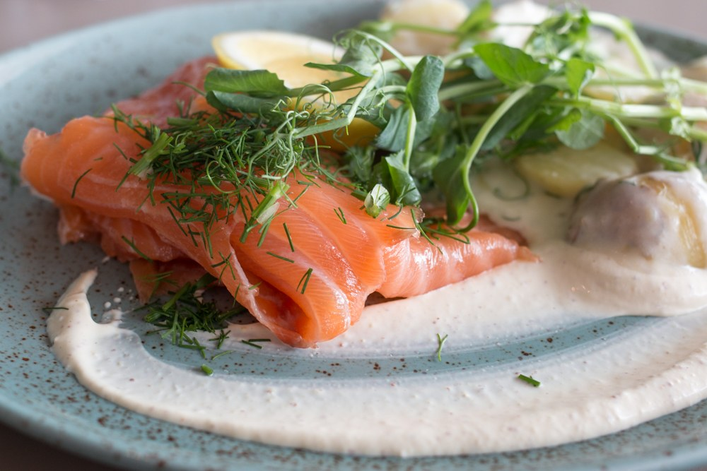 Smoked salmon is always the right choice in Sweden. Gastronomic Tour of Southern Sweden in Skåne