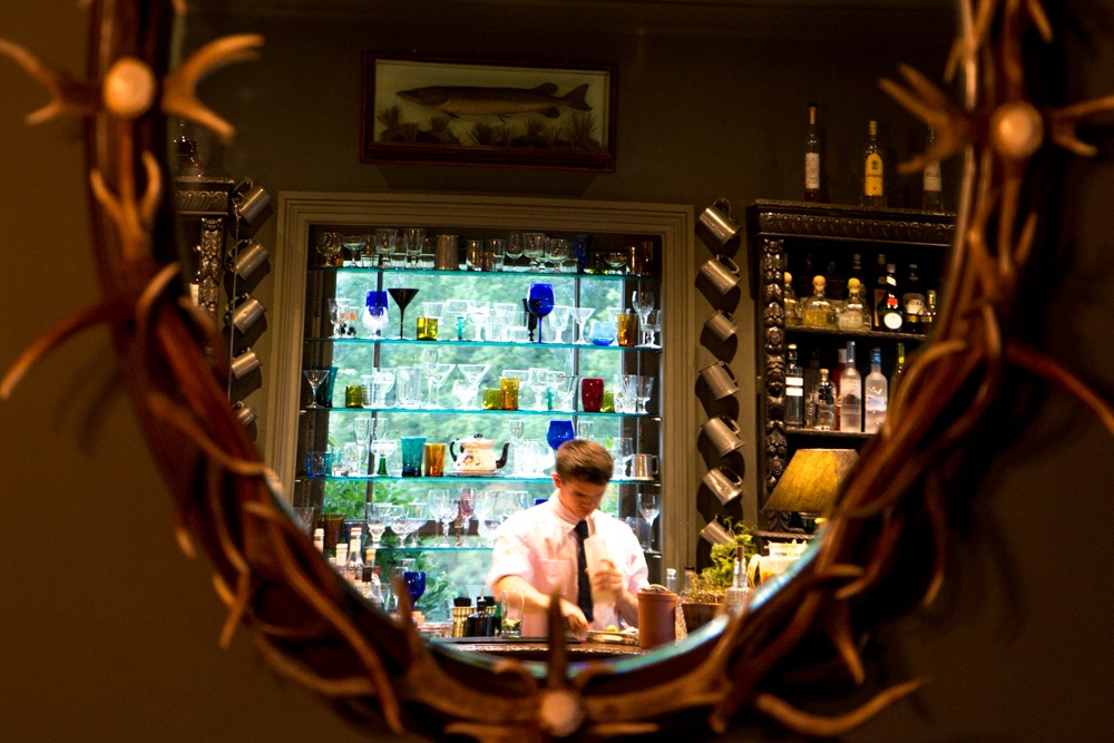 In The Pig's comfortable lounge, friendly bartenders create cocktails using a full range of local and imported beverages. New Forest Getaway. The Pig.