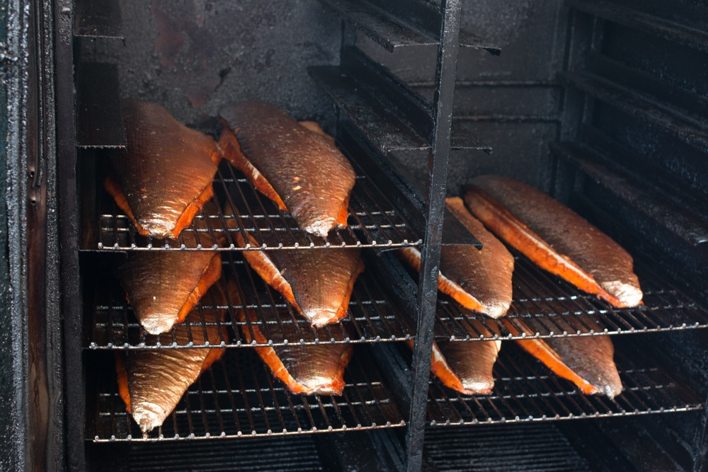 Blâ Hoddans Fisk smokes their salmon on alder wood. Gastronomic Tour of Southern Sweden in Skåne