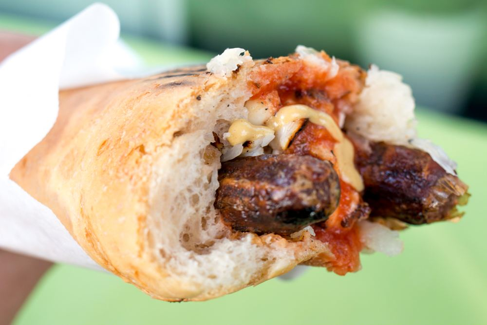 We visited some of Stockholm's most famous hot dog stands, but are favorites were at tiny Brunos Korvbar. Pictured here is a merguez hot dog loaded with Mediterranean spices and toppings. Why We Want to Plan Another Stockholm Trip