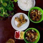 Pinterest image: image of bun cha with caption reading 'Bun Cha Hanoi'