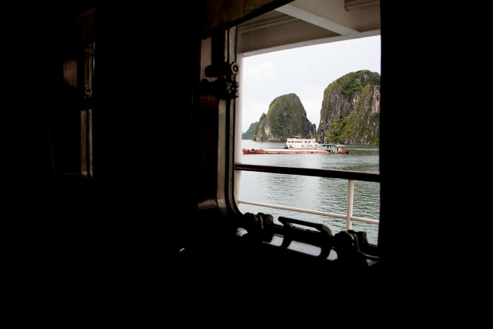 We loved so much about the Paul Roque Suite, like the bed and the hair products. However, the view was the real show stopper. Cruising Halong Bay Vietnam