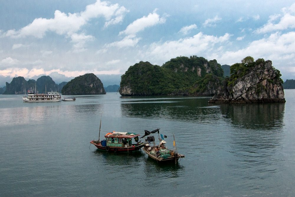 The views don't stop on Halong Bay. Every angle is a photo opportunity.Cruising Halong Bay Vietnam