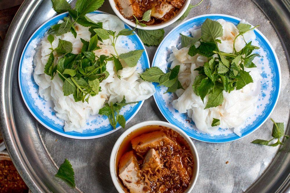 Banh Cuon in Hanoi Vietnam