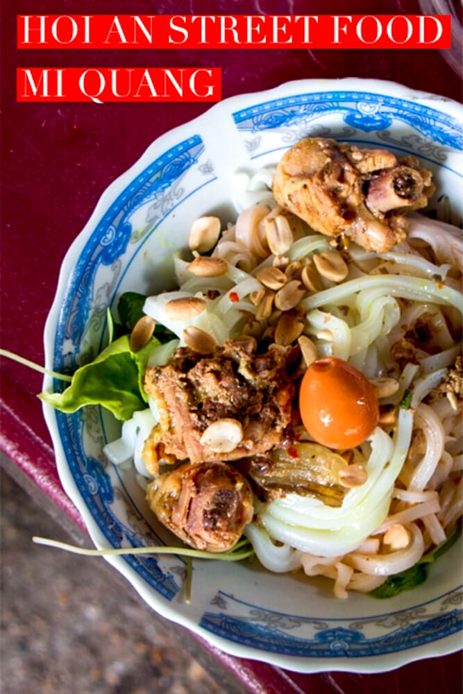 Hoi An street food surprised us with our first (but not last) lunch. Check out our video to see more of Hoi An and its famous rice noodle dish, Mi Quang.