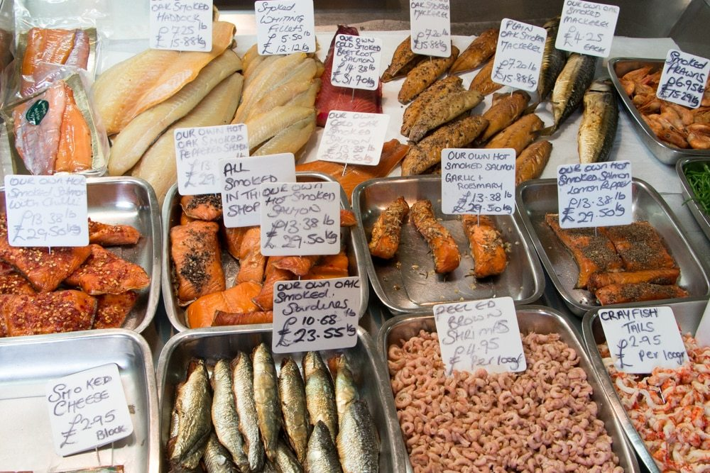 Hastings Fish Selection by the Beach onRock-A-Nore Road. top 3 new reasons to visit hastings