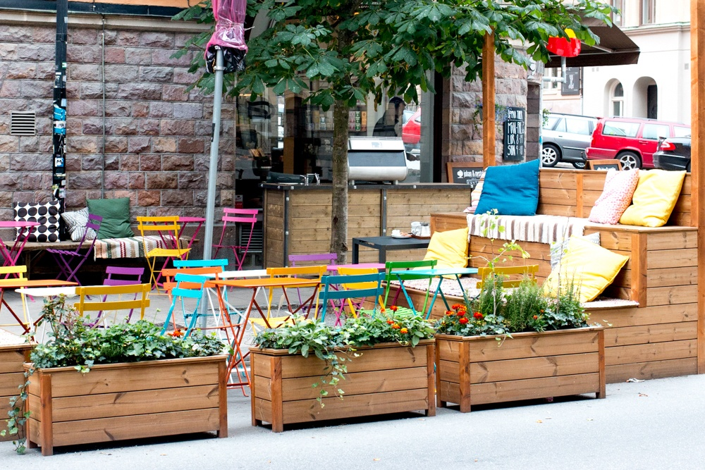 The Swedish sense of style is everywhere in Stockholm - even at outdoor cafés. Why We Want to Plan Another Stockholm Trip