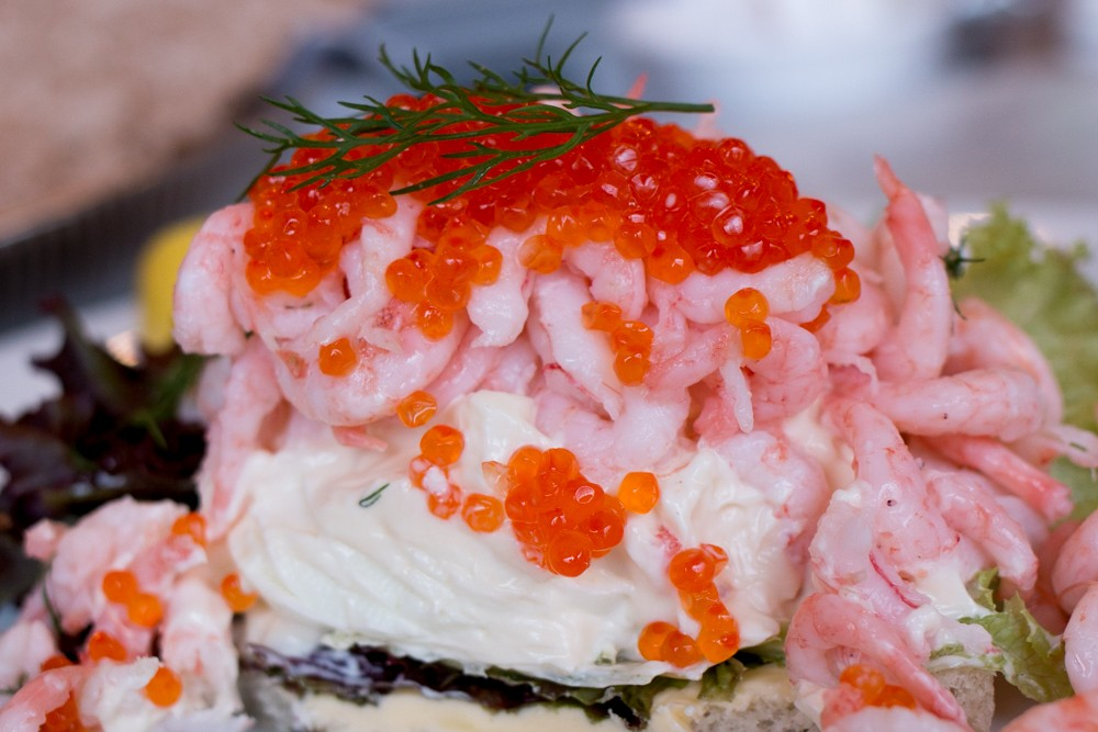 Why choose between salmon and shrimp when you can order shrimp salad topped with salmon roe at historic Lisa Elmqvist? Why We Want to Plan Another Stockholm Trip