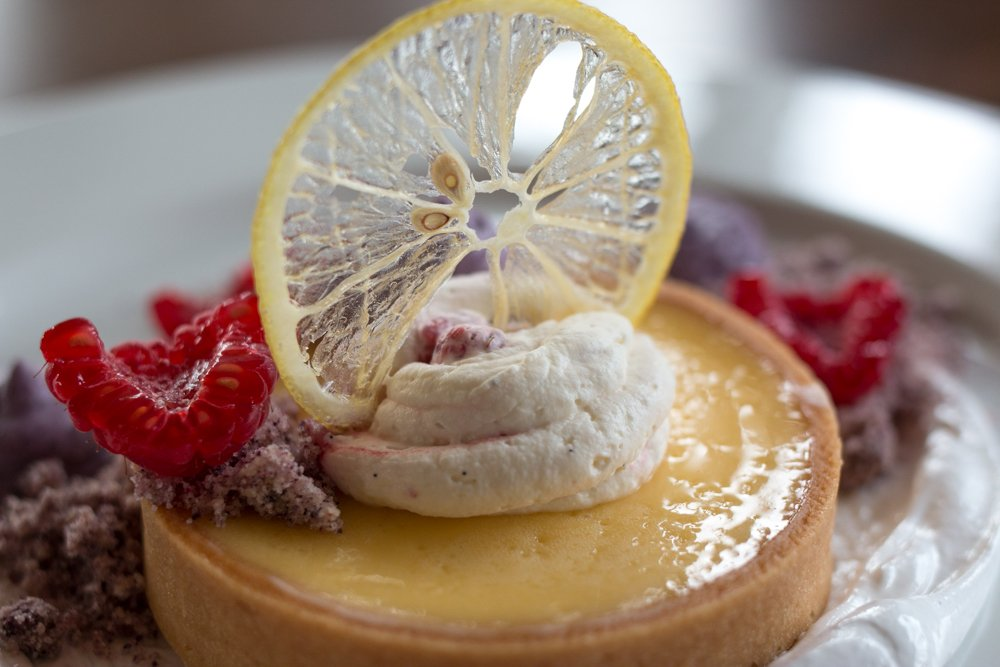 Lemon Brulee Tart at Restaurant at the Tate Modern in London England