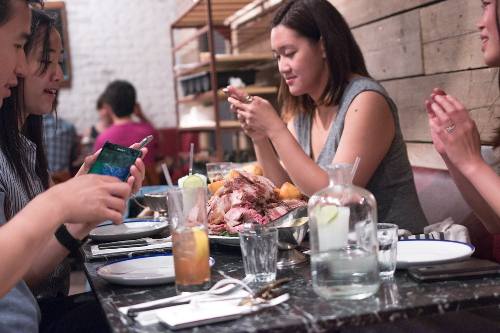 At Blacklock, the Sunday Feast is best enjoyed with friends - and smart phones to record the gluttonous glory. Experience London from Above and Below