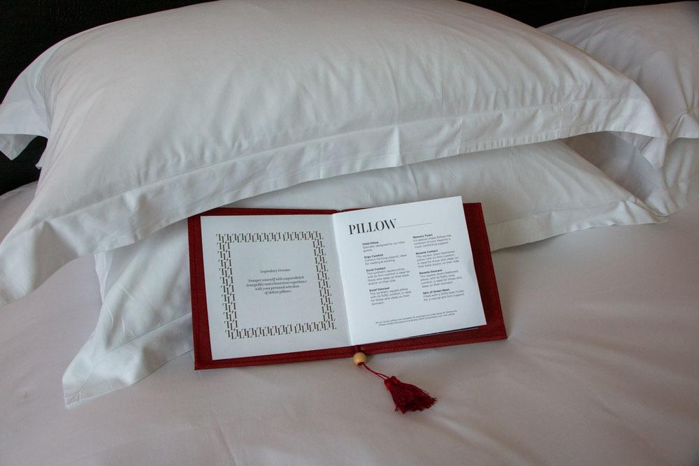Pillow Menu at Sofitel Legend Metropole Hanoi