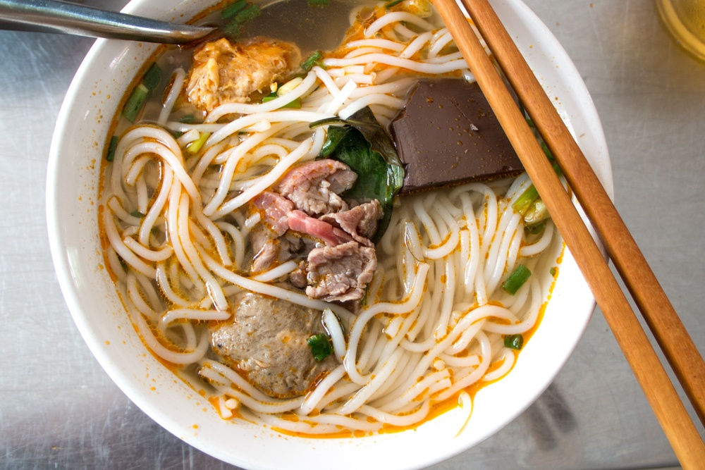 Bun Bo Hue - Spicy Noodle Soup in Vietnam