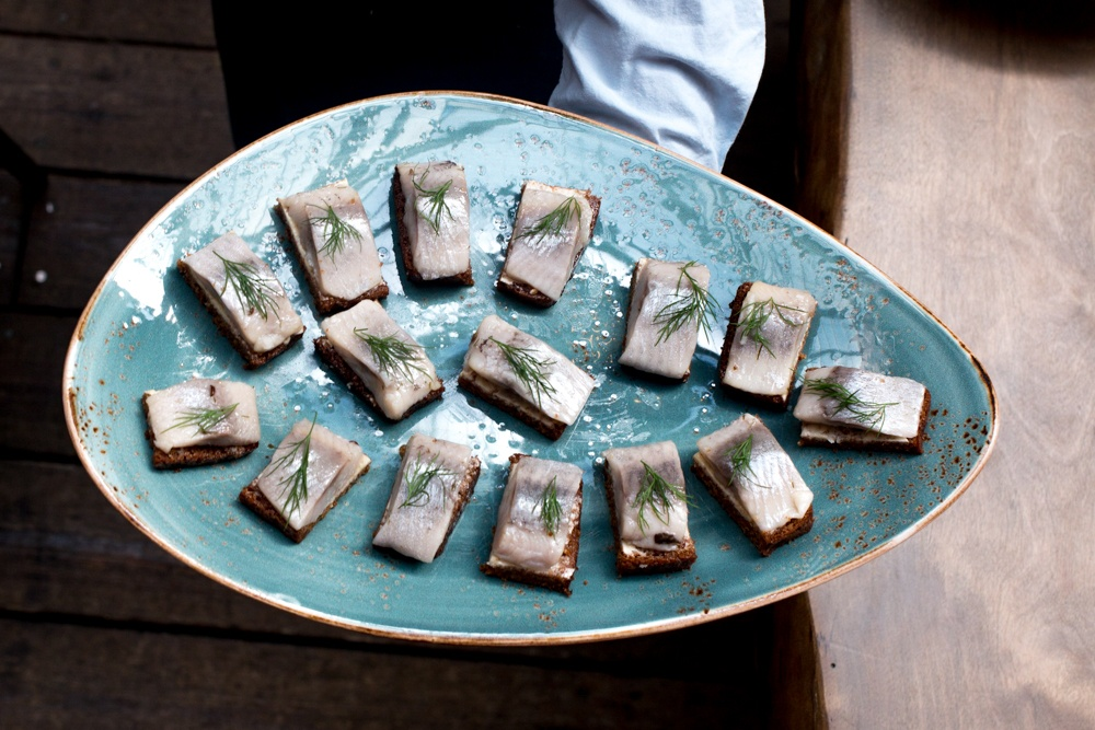 In Malmö, our plate runneth over with herring. Gastronomic Tour of Southern Sweden in Skåne