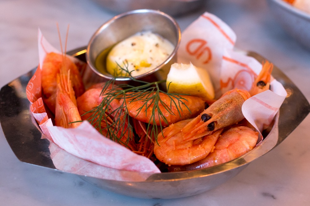 Urban Deli serves their shrimp with just aioli and lemon. This simple preparation works well with shrimp of this quality. Why We Want to Plan Another Stockholm Trip