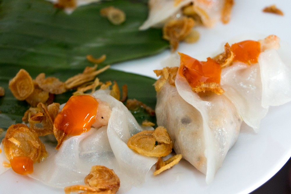 White Rose Dumplings in Vietnam