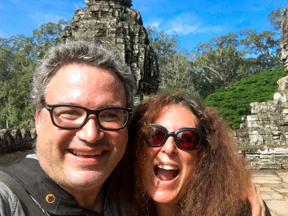 We were hot, sweaty and happy as we toured the Angkor temples just four miles from Siem Reap. Cambodian Adventure in Siem Reap