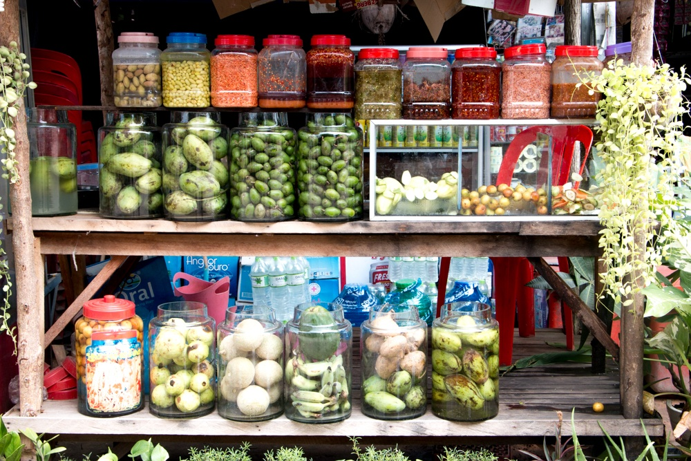 Pickled Vegetables for Sale in Siem Reap. Cambodian Adventure in Siem Reap