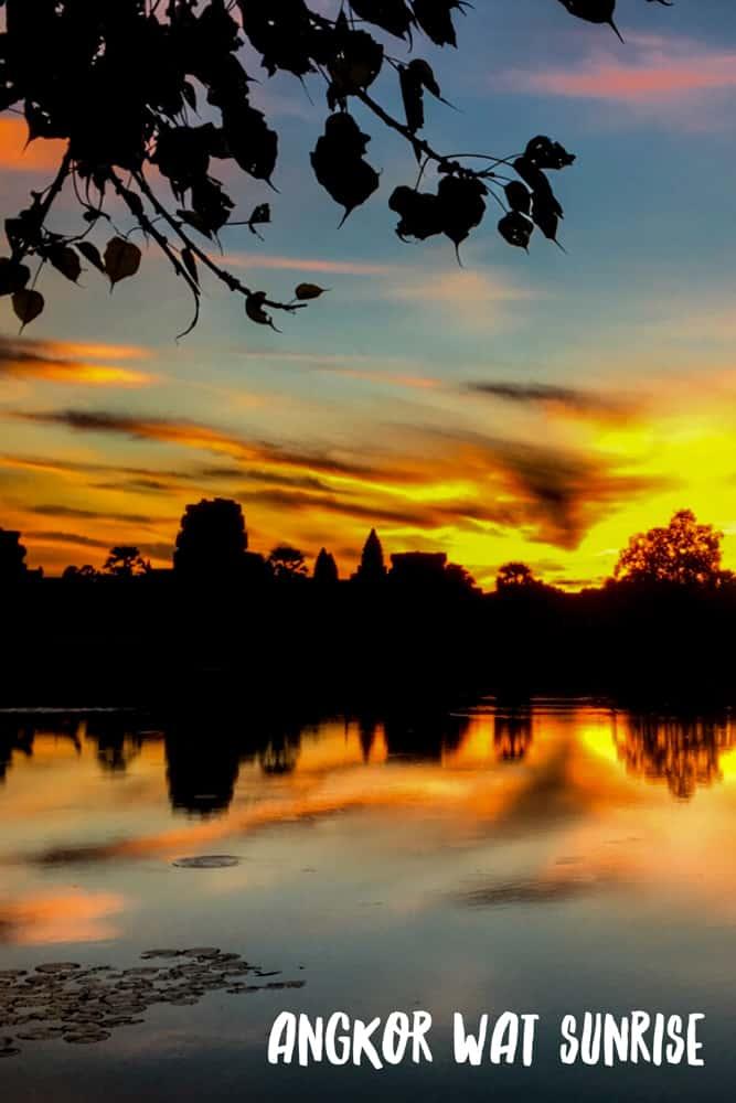 Cambodian Adventure Angkor Wat Sunrise Pin