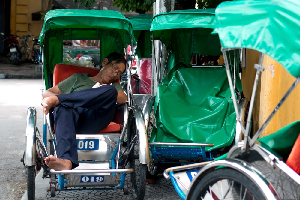 Tuk Tuk Driver in Central Vietnam