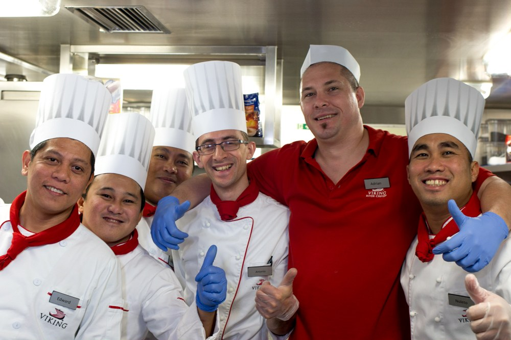 Friendly Faces in the Kitchen on the Viking Eir. Cruising the Rhine. Rhineland Discovery. Viking River Cruises