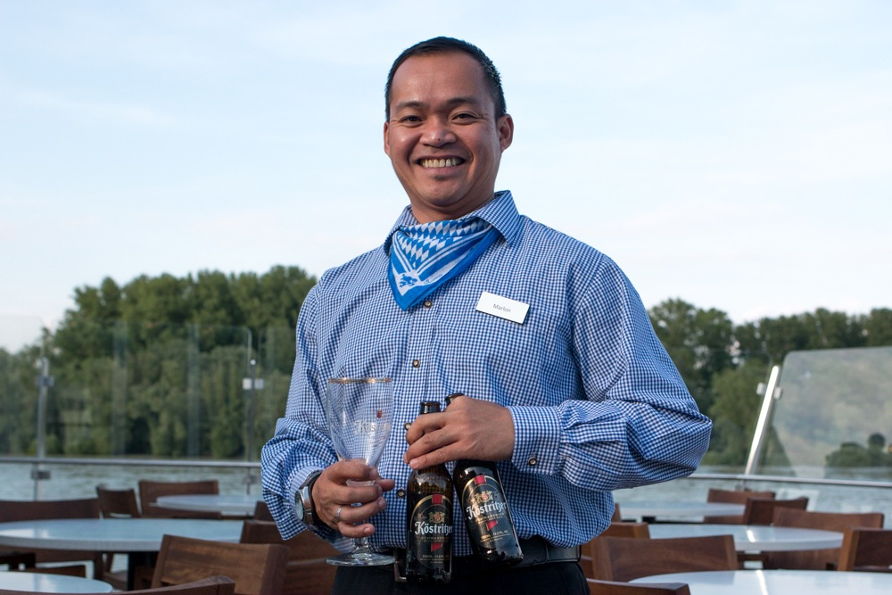 Cheers to Marlon! He always had a smile on his face and beers in his hand. Cruising the Rhine. Rhineland Discovery. Viking River Cruises