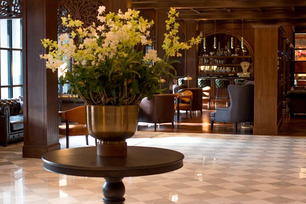 Welcoming Lobby at Metropole, Bangkok's Newest Luxury Hotel. . Bangkok Luxury Hotel Experience at Metropole