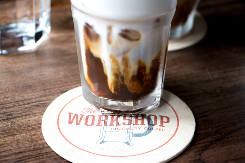Iced Latte at The Workshop - Artisan Chocolate and Beer in Saigon Vietnam