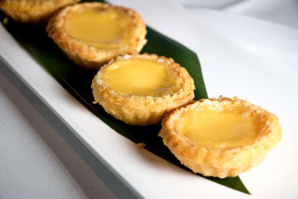 Egg Custard Tarts london dim sum lunch min jiang 2foodtrippers