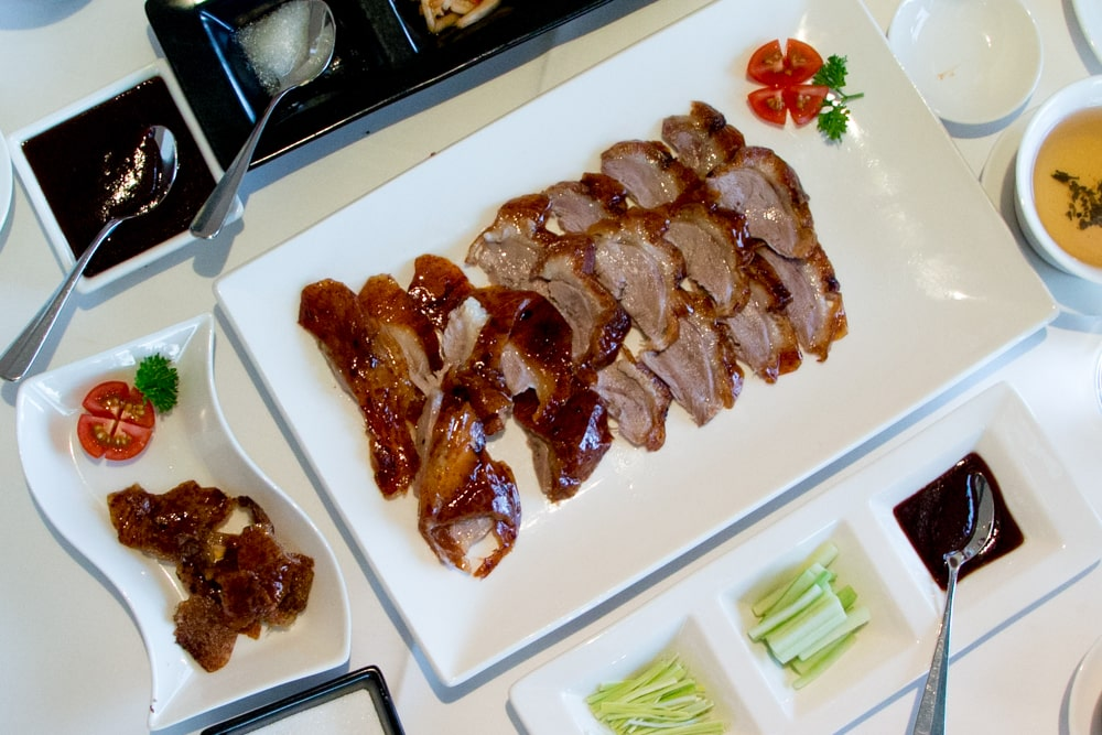 Sliced Roast Duck at Min Jiang in London