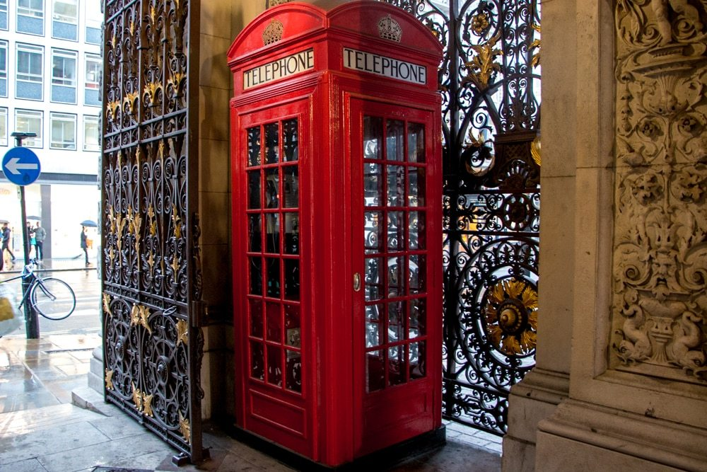 Iconic London Telephone Booth