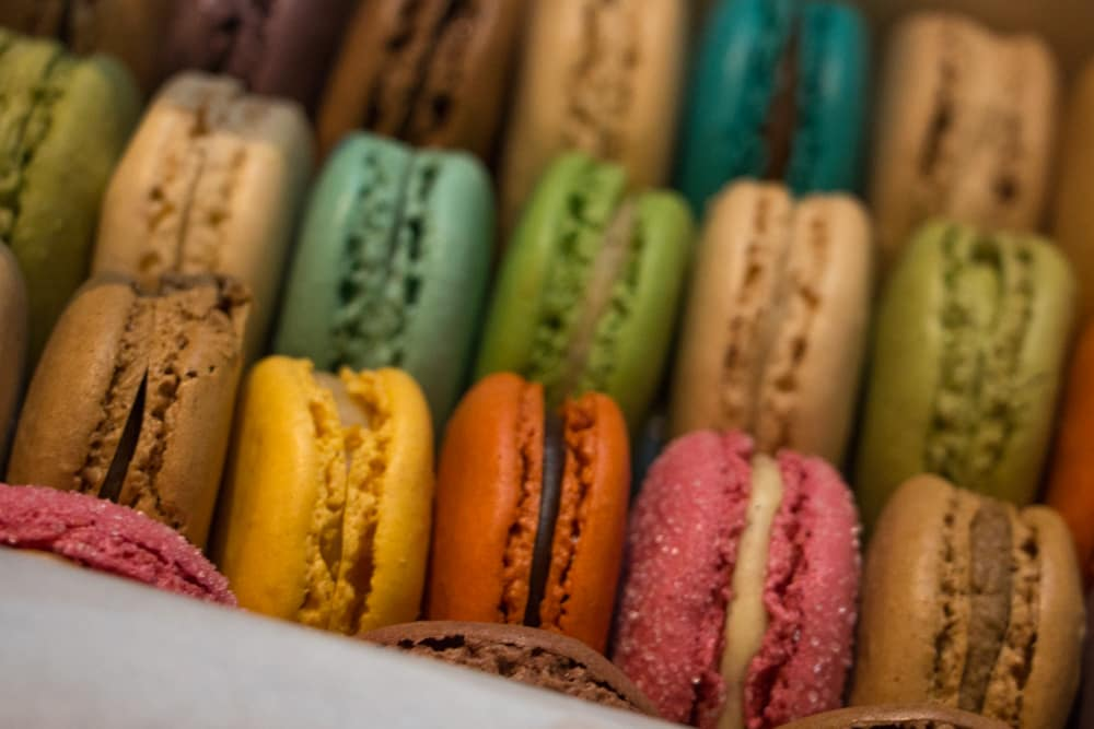 Rainbow of Lauderee Macarons in London