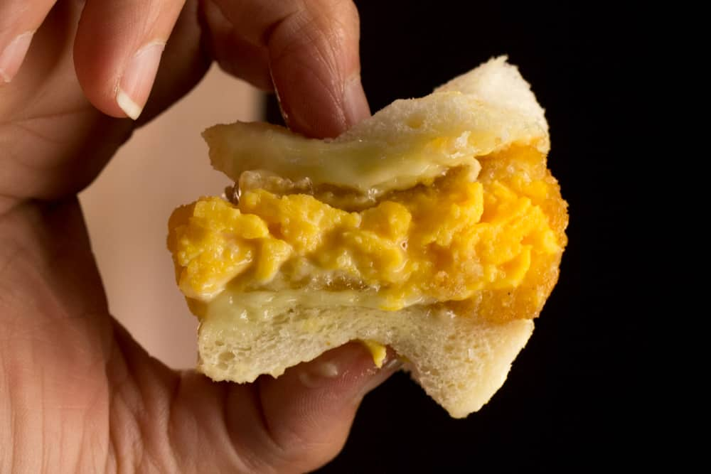 2foodtrippers Osaka Food Guide. This simple piece of tamago katusando is an egg sandwich masterpiece.