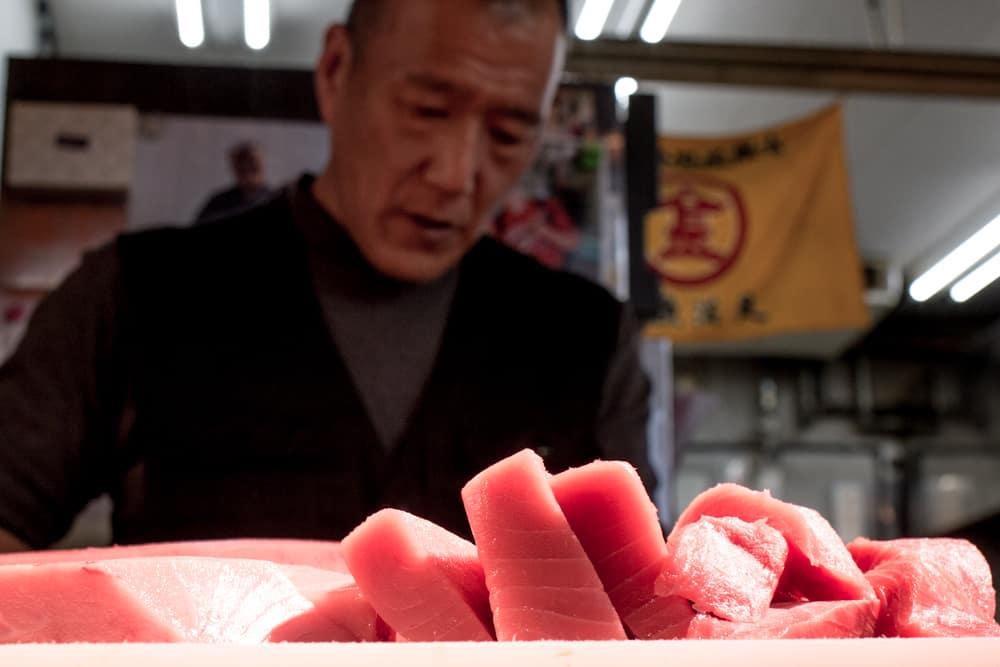 Maguroya Kurogin Sushi Master in Osaka Japan