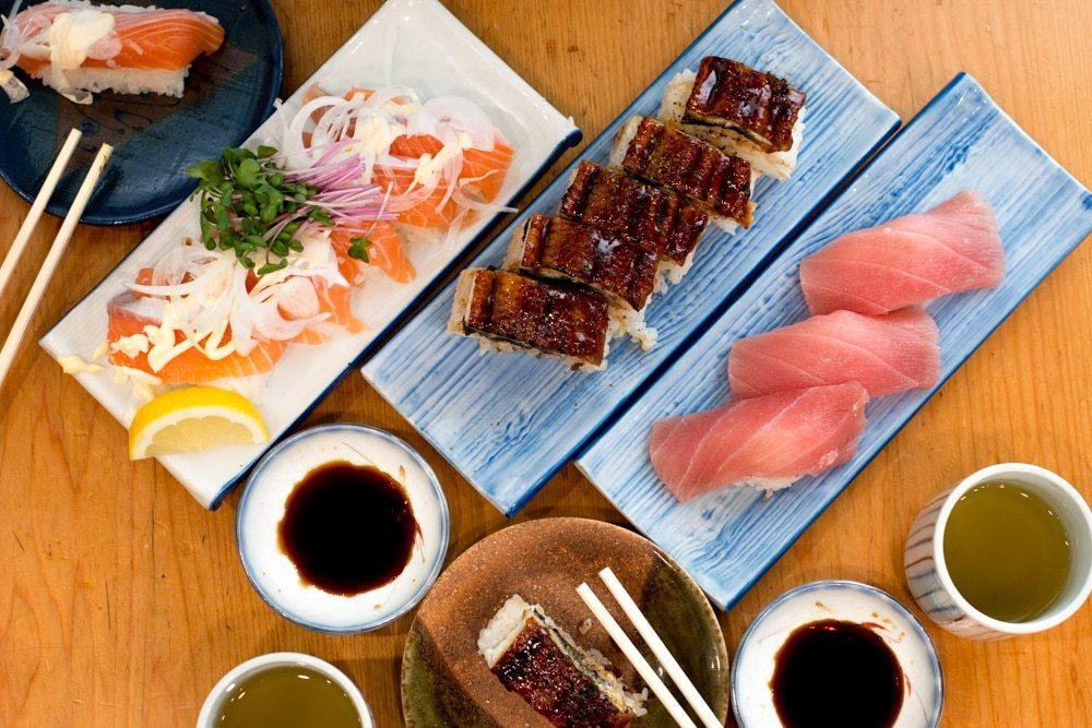 Market Sushi in Osaka Japan