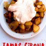 Pinterest image: image of tapas with caption reading 'Tapas Girona'