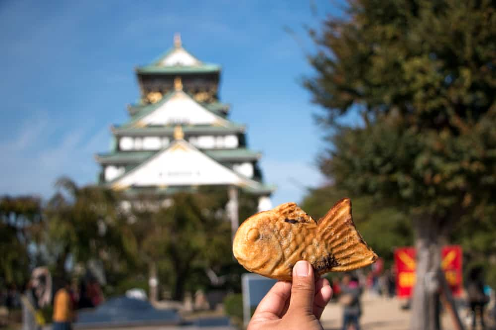 Food in the Air at the Osaka Castle - Why You Gotta Visit Osaka Japan
