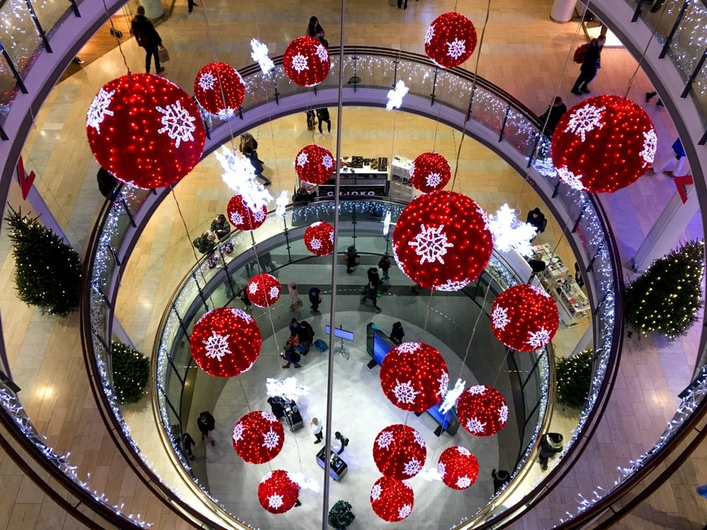 Kamppi Center Decorated for a Helsinki Christmas