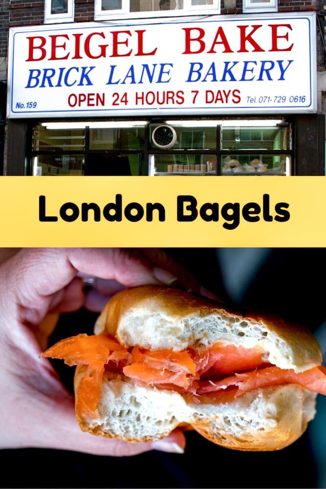 London Bagels at Beigel Bake