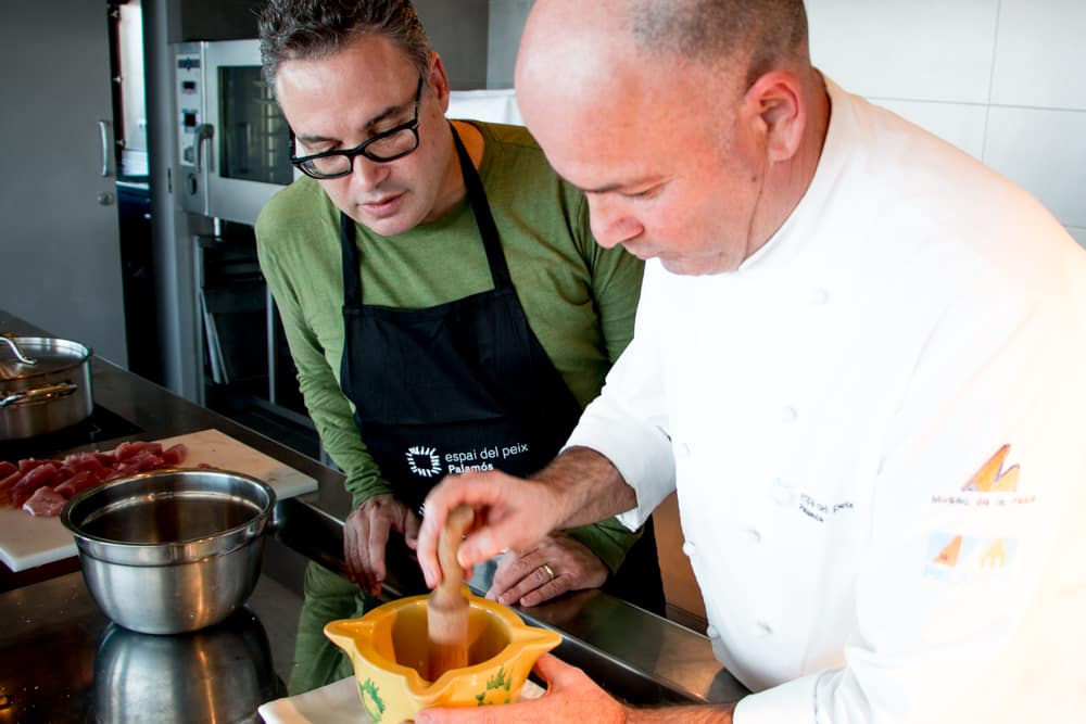 Cooking with Chef Ramon Baquera in Palamos Spain