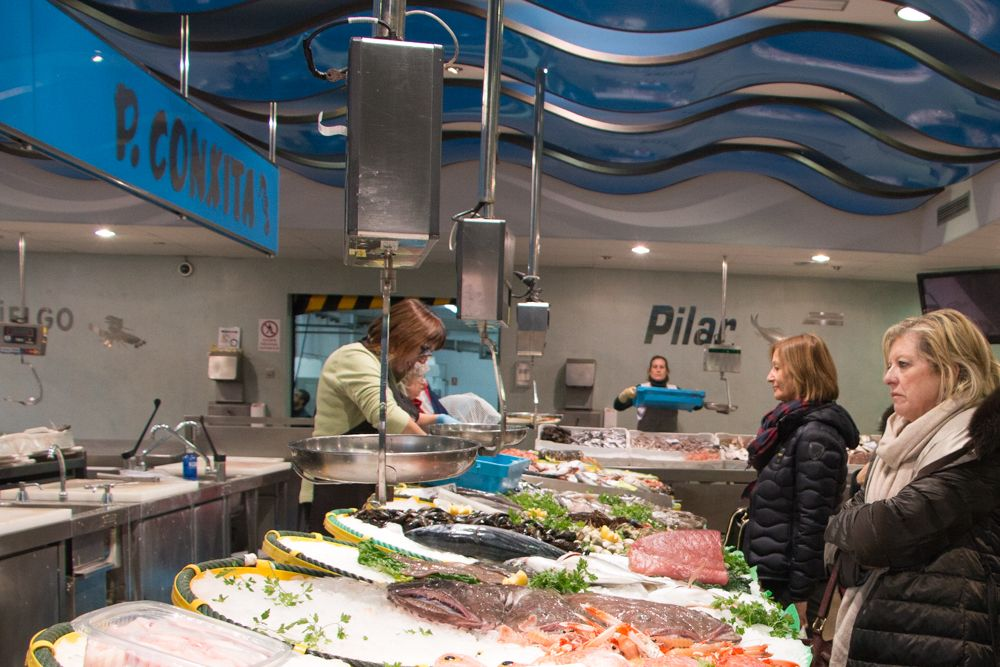 Palamos Fish Market in Palamos Spain