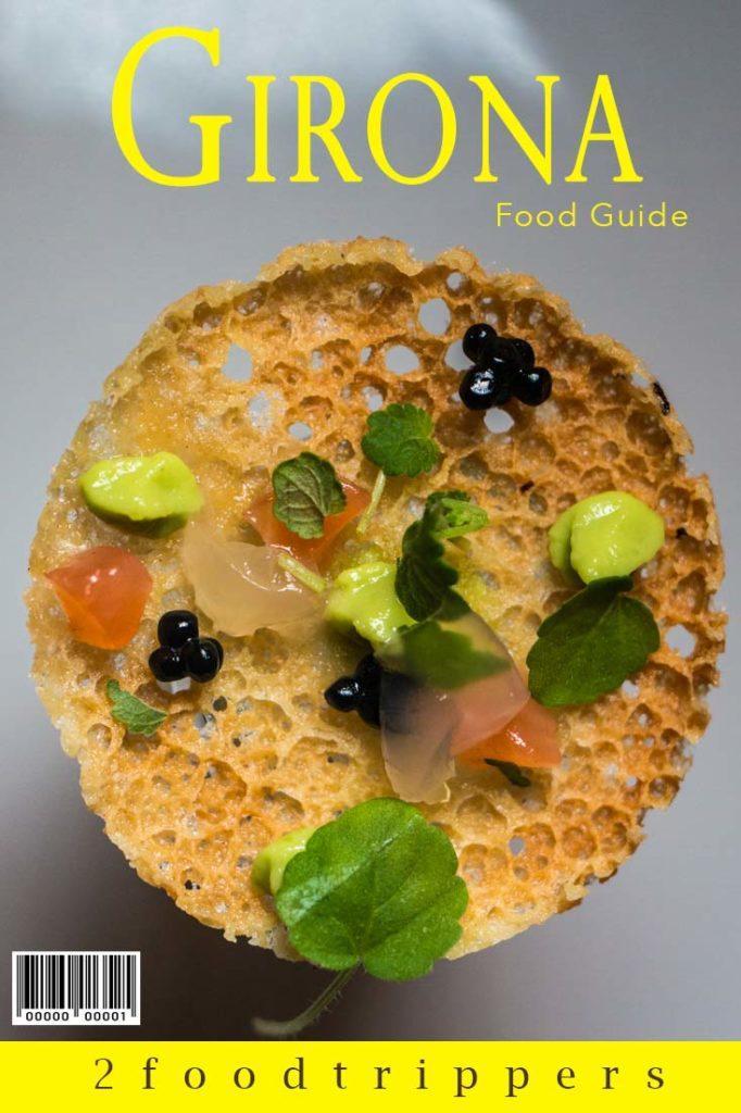 Pinterest image: image of Girona food with caption reading 'Girona Food Guide'