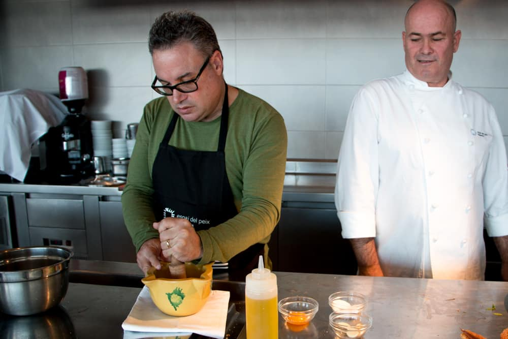 Chef Ramon at l'Espai del Peix - Where to Eat in Girona Spain - A Girona Food Guide